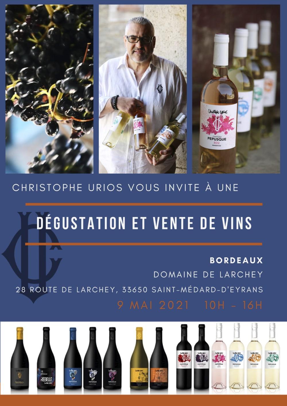 Dégustation Bordeaux Château Pepusque - Vins du Minervois