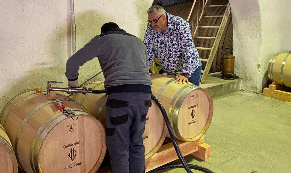 Mise en barriques Château Pépusque - Vins du Minervois La Livinière
